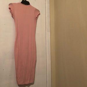 Pink midi dress worn once w/keyhole back